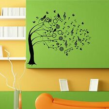 Wall Sticker Decal Room Decor Music Tree Melody Notes Singing Birds Branch L096