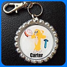 Personalized STAMPY CAT -Bottle Cap,Key Chain Ring or Zipper Pull For Backpack