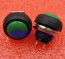 2PCS 12mm Waterproof Momentary ON/OFF Push Button Mini Round Switch Green