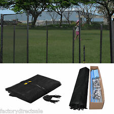 New 16 FT Trampoline Enclosure Safety Net Fence Round Replacement W/10 Pole