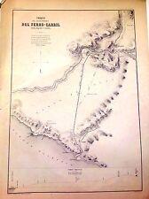 PERÚ,ferrocarril entre Arequipa y la costa.Paz Soldán.Geografía del Perú 1865.