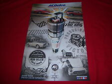 promo ACDelco AC DELCO poster - RETRO COLLAGE of vintage PHOTOS/ADS - cool NEW