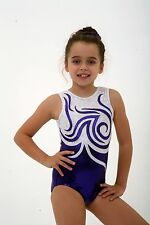 ALL SIZES *Chantelle* Bodice Foil Girls Gymnastics Leotard 26,28,30,32,34,36,38