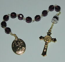 Handmade in the USA San Alejo Alex Single Decade Rosary St Benedict Crucifix NEW
