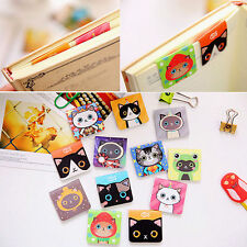 Magnetic 3pc/sheet Cartoon Cat Pattern Note Bookmark Novelty Book Marker Label