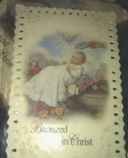 Baptism Holy Lace Card For Baptism Favors From Italy 12/pk