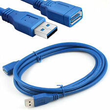 1M Polished USB3.0 A Male Plug to Female Socket Super Fast Extension Cable Cord