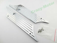 Chrome CNC Rear Saddle Bag Side Latch Hard Cover face For Harley Touring 93-2013