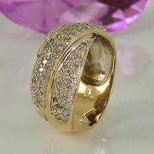 Ring in 585/- Gelb/Weißgold mit 109 Diamanten ca 1,10 ct Wesselton vsi - Gr.59