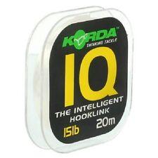 Korda IQ Flurocarbon Hooklink 15lb 20m - Brand New 2016!
