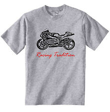 APRILIA RS 250 1998 RACING TRADITION P - COTTON GREY TSHIRT - ALL SIZES IN STOCK