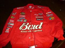 Chase Authentics Budweiser Racing Jacket, Red size Med