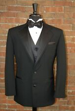 MENS 34 S BLACK NUVO 2 BUTTON by After Six TUXEDO JACKET / PANT / SHIRT / BOWTIE