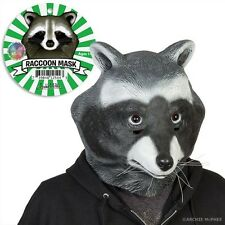 Raccoon Mask Deluxe Full Face Bird Head Latex Rubber Animal Costume