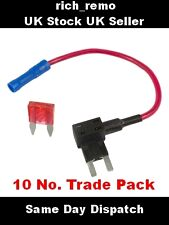 10 x Add A Circuit Piggy Back Fuse Tap Mini Blade Fuse Holder ATM 12V (+ FUSES)