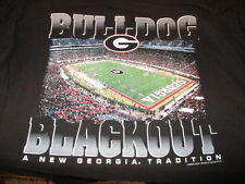 University of Georgia Bulldogs UGA Dawg T-Shirt Size XL Bulldog Blackout Game