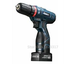 25V waterproof cordless screwdriver double speed rechargeable electric drill