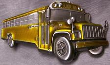 Pewter Belt Buckle Vehicle School Bus NEW
