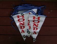 HONDA VINTAGE 1970's MOTORCYCLE 48' LONG PENNANTS FLAGS Motocross Enduro