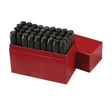 "3/8"" 36 PC STEEL METAL LETTER AND NUMBER STAMP PUNCH STAMPING STAMPER TOOL SET"