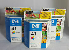 3 HP Invent 41 Tri-colour Inkjet Printer Catridges