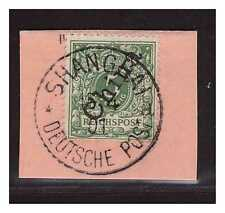 DP China Minr. 2 II ° Shanghai 15.4.01 auf Postanweisung Briefstück