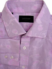 DUCHAMP LONDON Shirt Mens 16.5 L Pink - Flowers