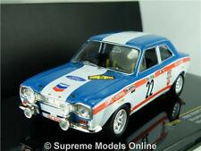 IXO FORD ESCORT MK1 MODEL CAR 1:43 SCALE RALLY RACING YPRES 1970 RAC206 K8