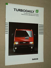 Catalogue Camion IVECO Turbo Daily 1995  prospectus brochure prospekt LKW truck