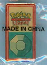 BOULDER BADGE PIN POKEMON™ 2001 KANTO LEAGUE - FACTORY SEALED - YELLOW FACE