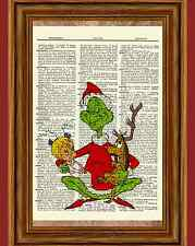 How The Grinch Stole Christmas Dictionary Art Print Picture Poster Cindy Lou Who