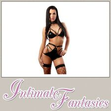 Sexy Lingerie Wet Look Dominatrix Bikini Adult Role Play Club Wear Size 8 10 12