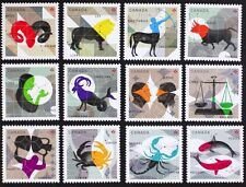 CANADA #2449-60 Signs of the Zodiac, Complete set 12 Singles from Sheet Mint NH