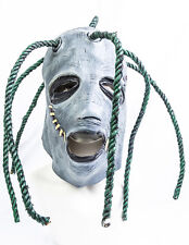 Corey Taylor style full head latex mask with dreadlocks slipknot fancy dress