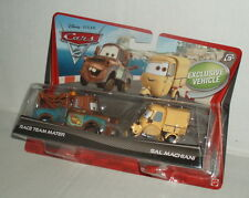 Disney Cars 2 RACE TEAM MATER & SAL MACHIANI MOMC 2 Pack 1:55 Mattel USA Rare