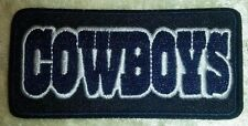 "Dallas Cowboys Name NFL 3"" Iron On Embroidered Patch ~USA Seller~FREE Ship!"