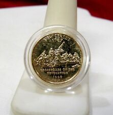 24KT GOLD PLATED US STATE QUARTER UNCIRCULATED MORGAN MINT IN CAPSULE NEW JERSEY