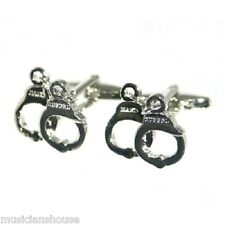 Handcuffs Policeman Security Guard CUFFLINKS Gift BOXED PRISON OFFICER PRESENT