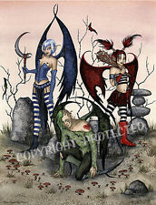 WHEN FAERIES GO BAD Fairy Art Print Amy Brown large 11X17 faery faerie fairies