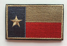 TEXAS TX STATE FLAG USA ARMY MORALE TACTICAL MILITARY BADGE  VELCRO PATCH  sh442