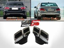 Quad Exhaust Pipe Tip Finisher Fits Mercedes Benz S W222 W212 W220 W221 E63 S63