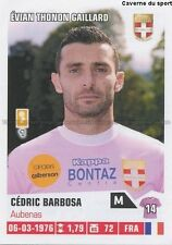 N°086 CEDRIC BARBOSA # EVIAN THONON ETG STICKER FOOT 2014 PANINI