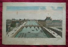 PARIS PONT ROYAL FRANKREICH ORIG. GUCKKASTENBILD VUE D'OPTIQUE KUPFERSTICH 1770