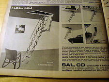 PUBBLICITA' ADVERTISING WERBUNG 1971 SAL.CO SCALE A SCOMPARSA (O27)