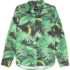 Insight Palm Leach Button Down Shirt (XS) Astro Turf Green