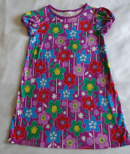 Hanna Andersson Girls 120 6 6X 7 Purple Floral Flowers Play Dress Blue Green Red