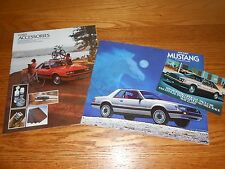 1979 FORD MUSTANG 20 p. BROCHURE 20 p. ACCESSORIES CATALOG, 79 PACE CAR POSTCARD