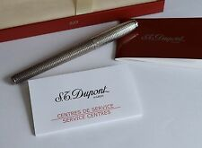 S.T. Dupont Paris Silver Plated Fidelio Fountain Pen With 14K Nib (T4)