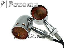 Chrome Bullet Turn Signals Light Blinker XS650 cb750 Bobber Chopper sportster HD