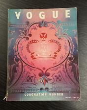 VOGUE Magazine Coronation Number June 1953  Royalty Queen Elizabeth II